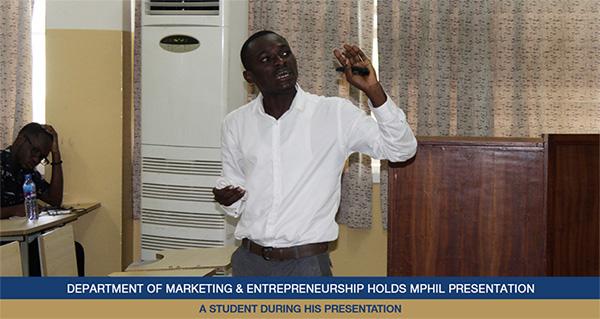Department of Marketing & Entrepreneurship Holds MPhil