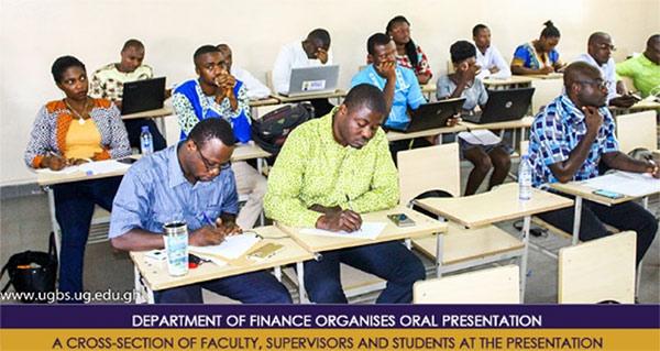 Department of Finance Organises Oral Presentation